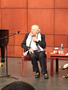Andre Previn spoke to a CCM audience on Saturday