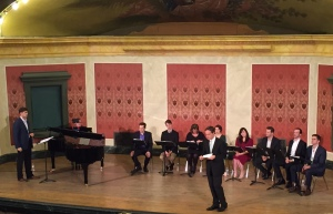 A previous opera workshop with composer Jake Heggie in 2014