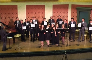 The cast of CCM singers gave a terrific performance that was partly choreographed