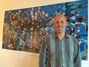 Artist Jonathan Gibson with Art of Parts at Phyllis Weston Gallery
