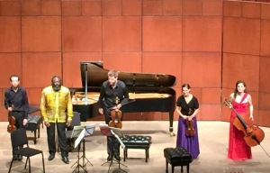 The Ariel Quartet performed this time with pianist Awadagin Pratt