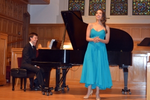 Soprano Nadine Sierra made her Cincinnati debut at Matinee Musicale. Bryan Wagorn at the piano.