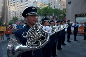 The Ceremonial Brass of the U.S. Air Force Band on the Today Show; photo provided by the United States Air Force