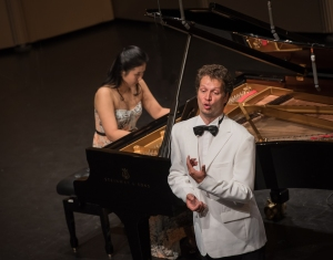 Nikolay Borchev and pianist Hyeyeon Park.