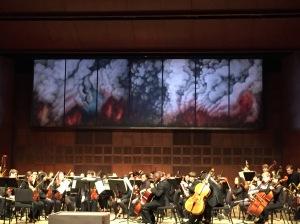 Anna VanMatre's Metamorphoses-Fire behind the CCM Concert Orchestra