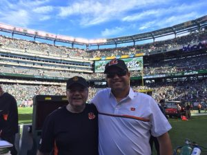 Concert pianist Emanuel Ax with Bengals Assistant Head Coach Paul Alexander.